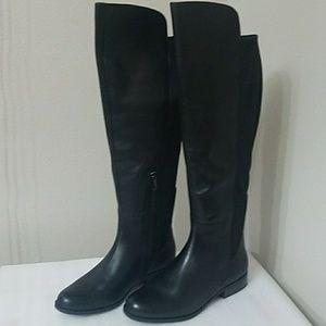 4eb3d8ab130a Bandolino Chieri tall black leather wide calf boot